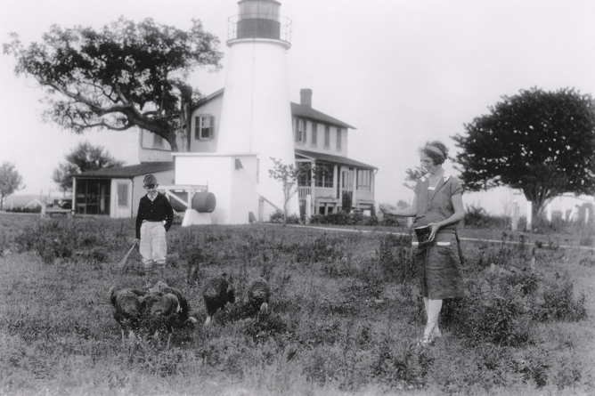 Turkey Point Lighthouse with Fannie Salter